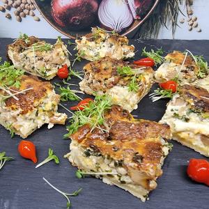 Fingerfood warm Quiche Lorraine